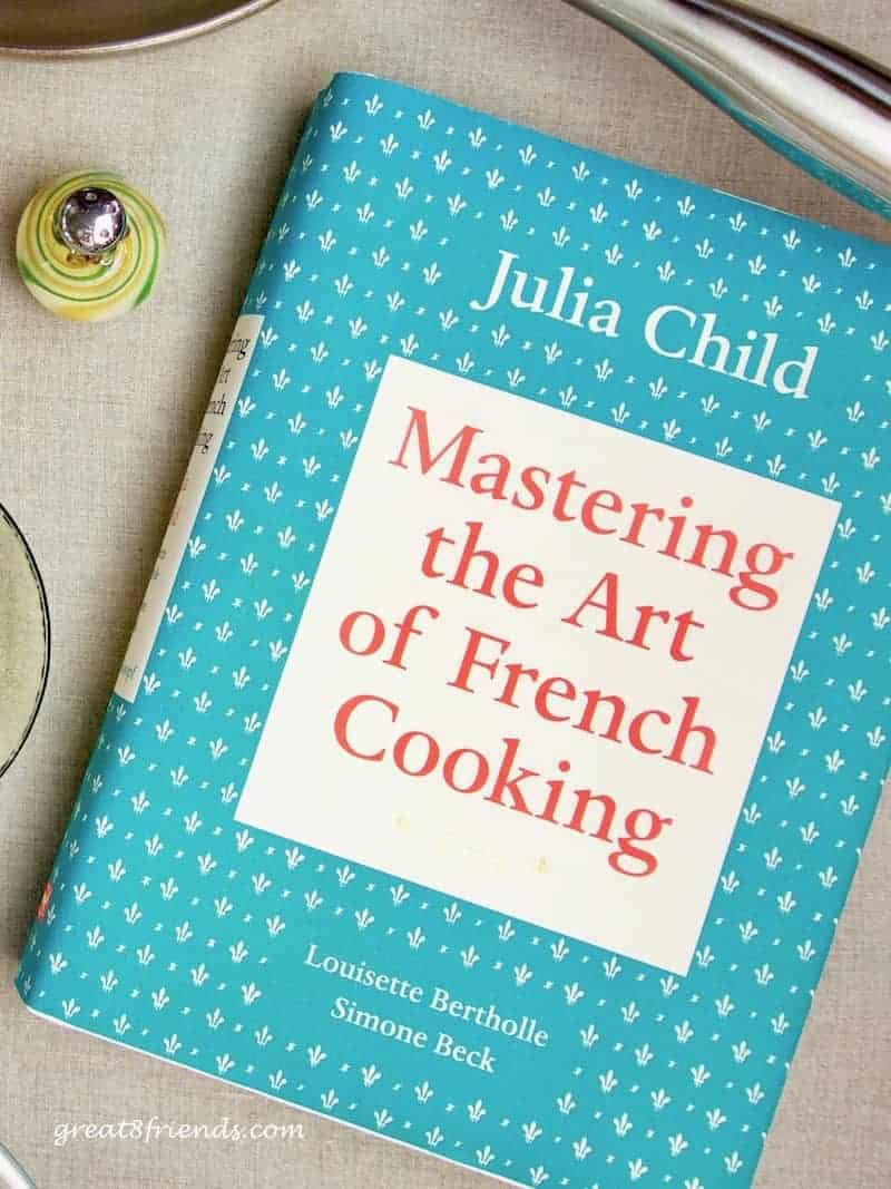 Photo of the Julia Child cookbook, Mastering the Art of French Cooking.