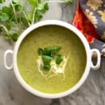 Spring Pea and Arugula Soup