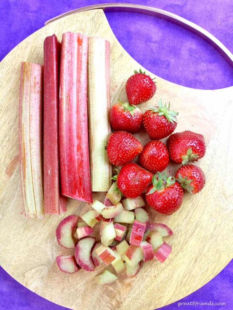Strawberries and Fresh Rhubarb