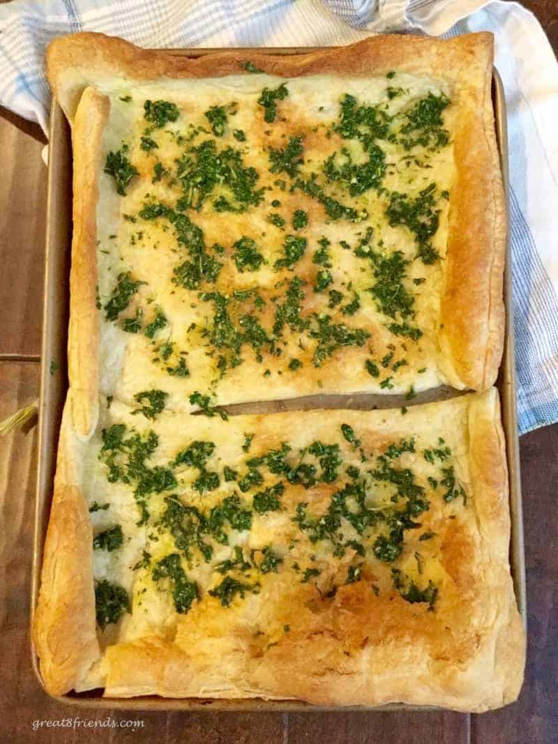 Puff pastry for a Zucchini Pesto Tart