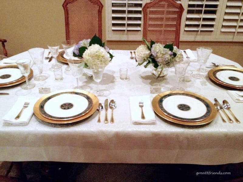 Celebrating Ina Garten The Barefoot Contessa was a recent themed dinner party for the Great Eight Friends including all delicious Ina recipes.