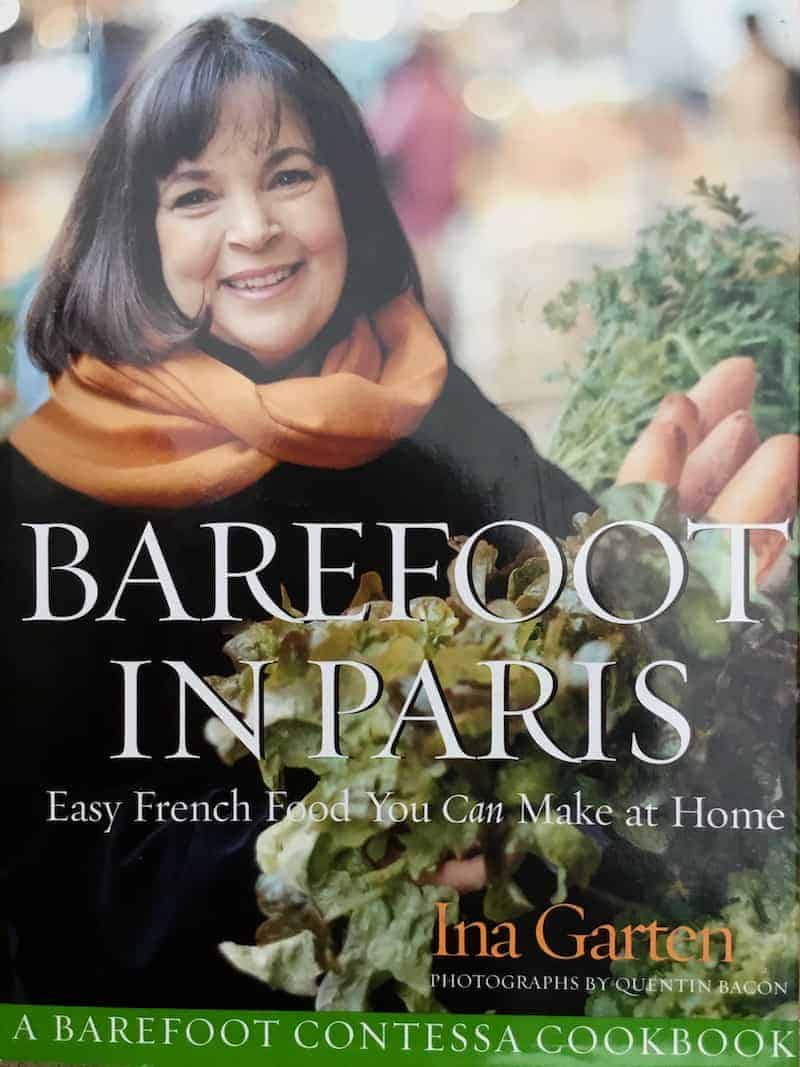"The cover of Ina Garten's ""Barefoot in Paris"" cookbook."