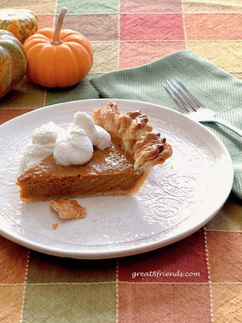 Slice of Pumpkin Pie.