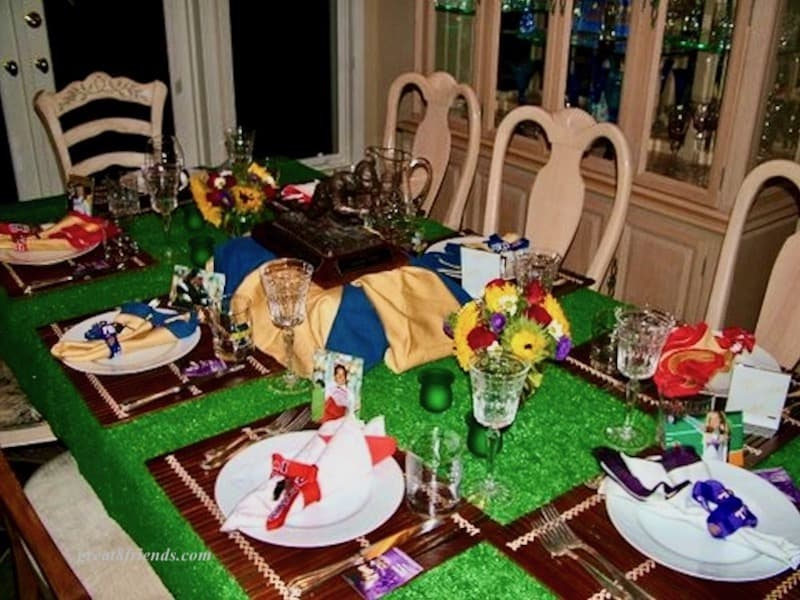 Football table setting.