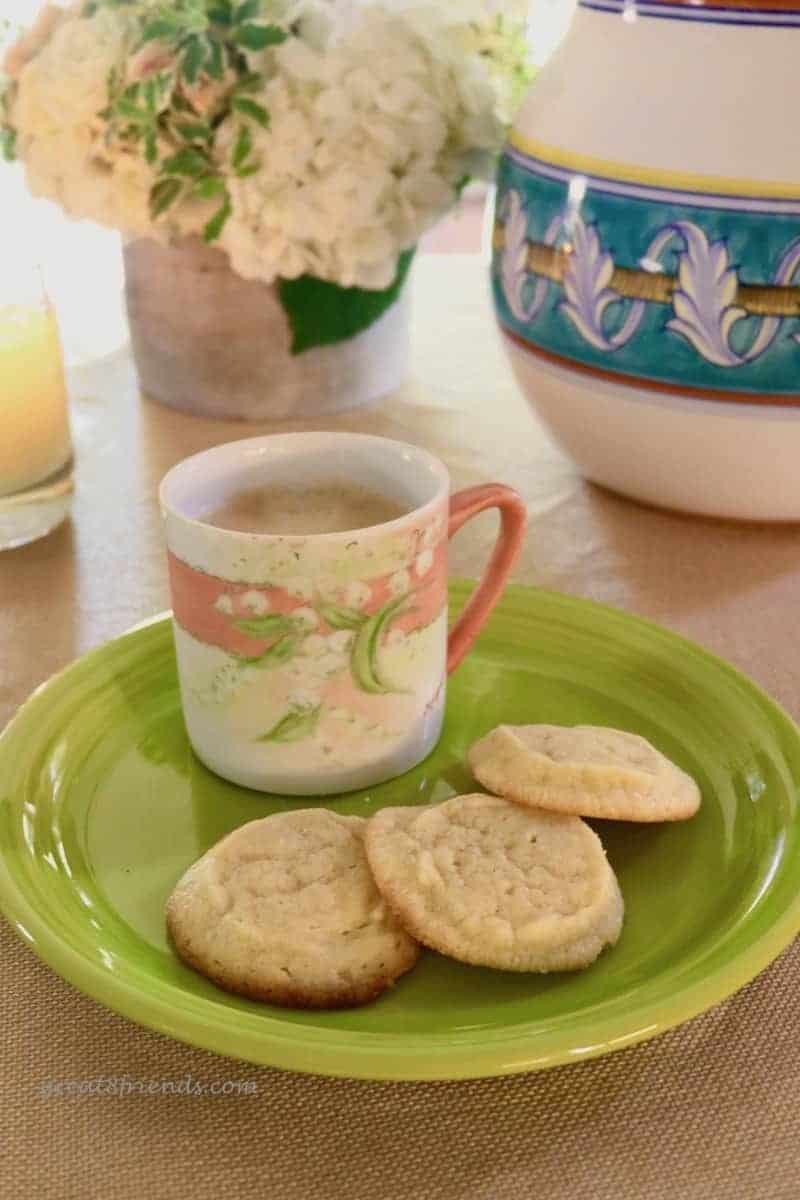 butter cookies with coffee.