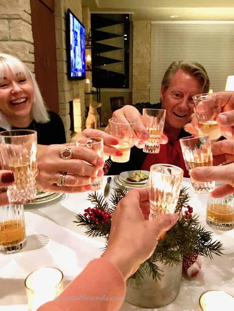 A Danish Christmas Dinner toast skol