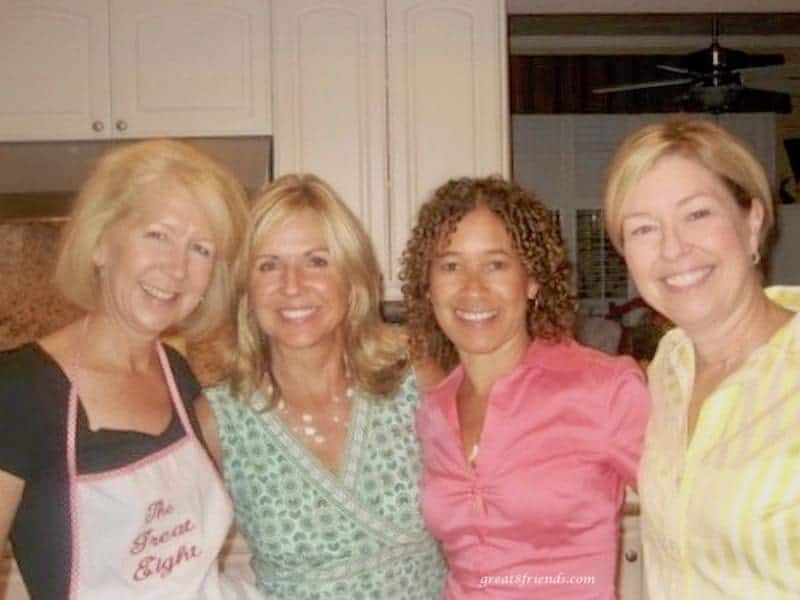The four of us gals in the kitchen.