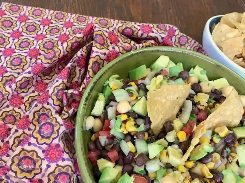 This easy and healthy Texas Caviar recipe is the perfect addition to your appetizer table. What could be better that dipping a tortilla chip into a bowl of fresh ingredients?