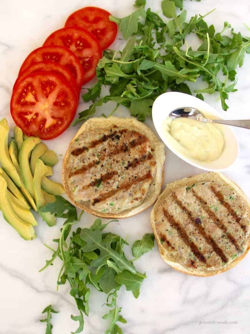 At your next backyard barbecue give this easy and fresh recipe a try! Fresh healthy tuna burgers hot off the grill is a delicious option!