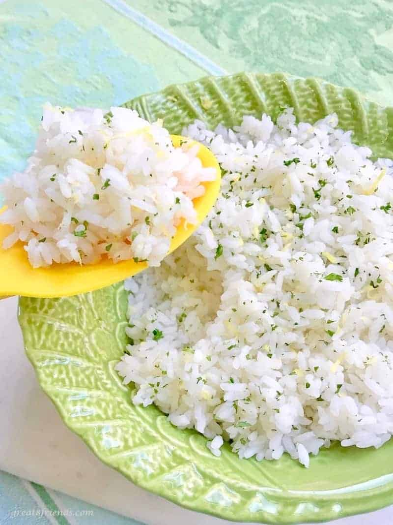 The fresh lemon and herbs in this Zesty Lemon Rice makes this simple recipe the perfect side dish for your fish, chicken or beef.