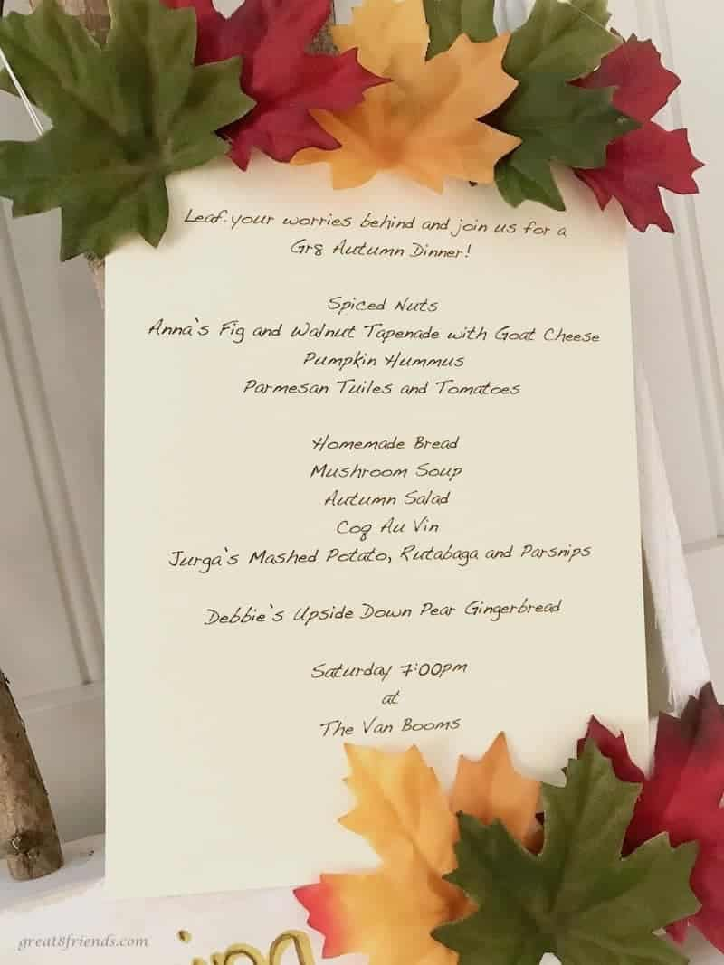 Great Eight Celebrates Autumn invitation.