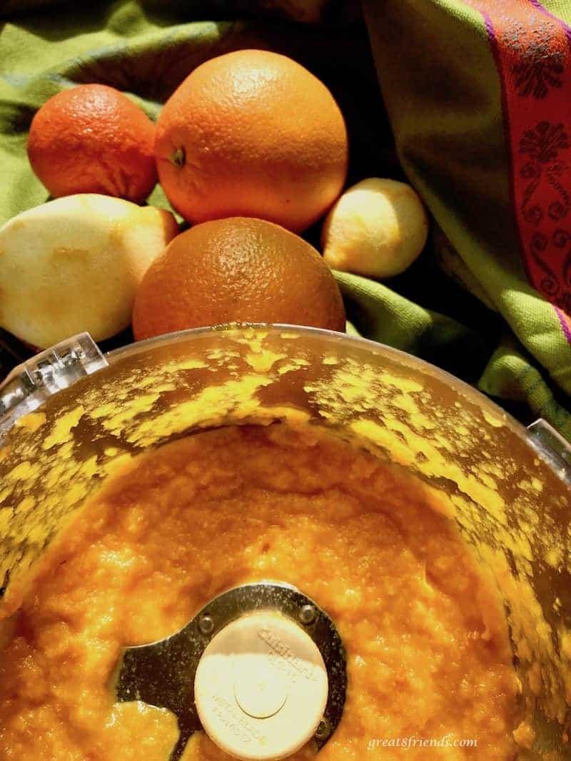 pureed oranges