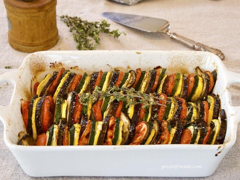 Vegetable Tian Casserole