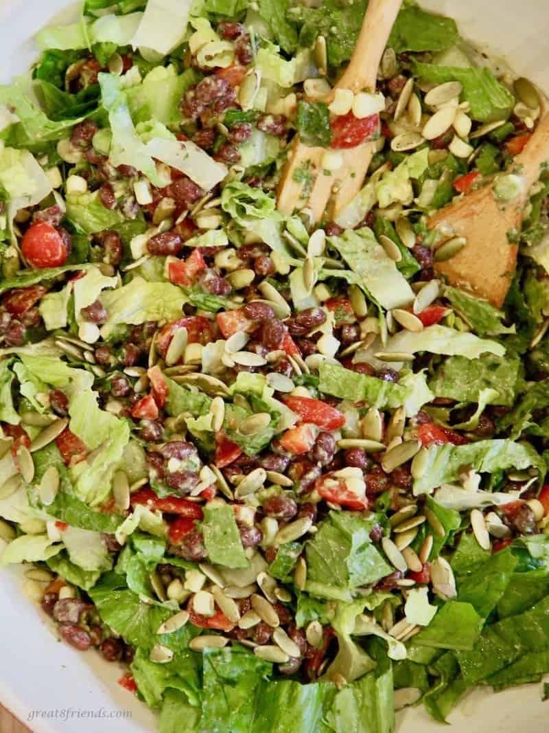 Black Bean Salad with Avocado Lime dressing.
