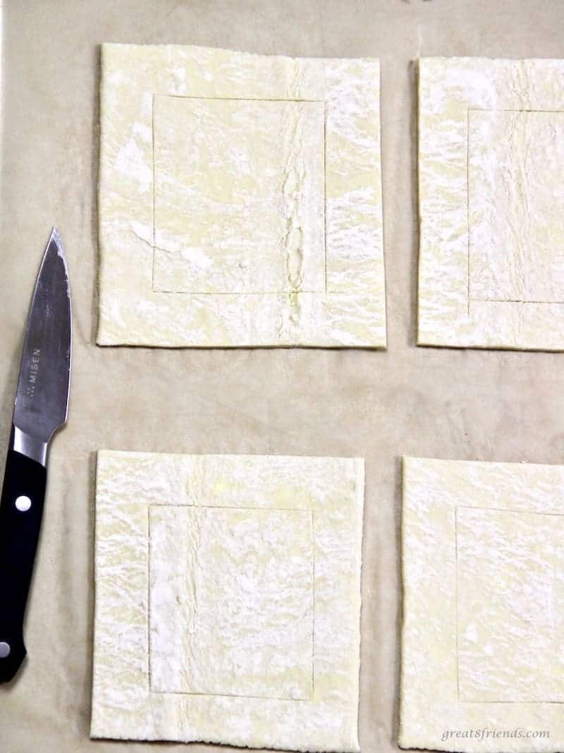 Raw cut pastry dough