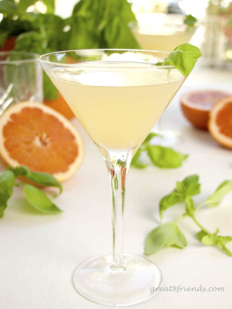 Grapefruit Basil Martini.