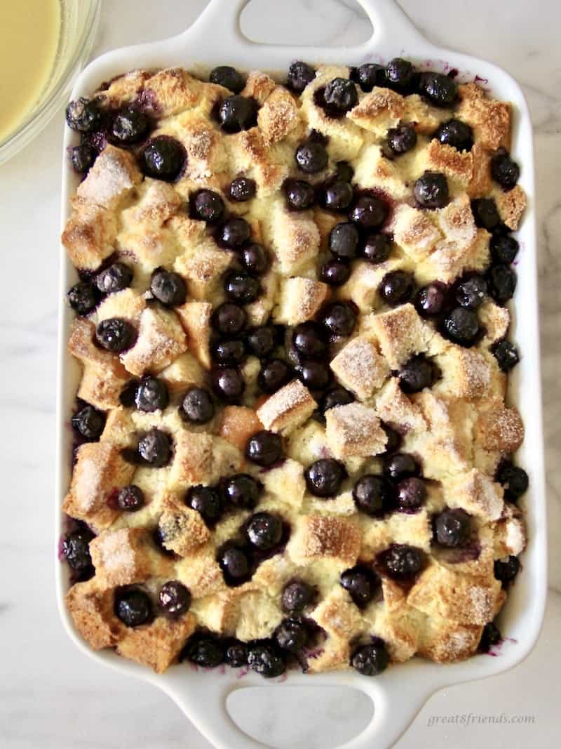 This easy to prepare blueberry dessert is delicious and appealing to serve to guests!