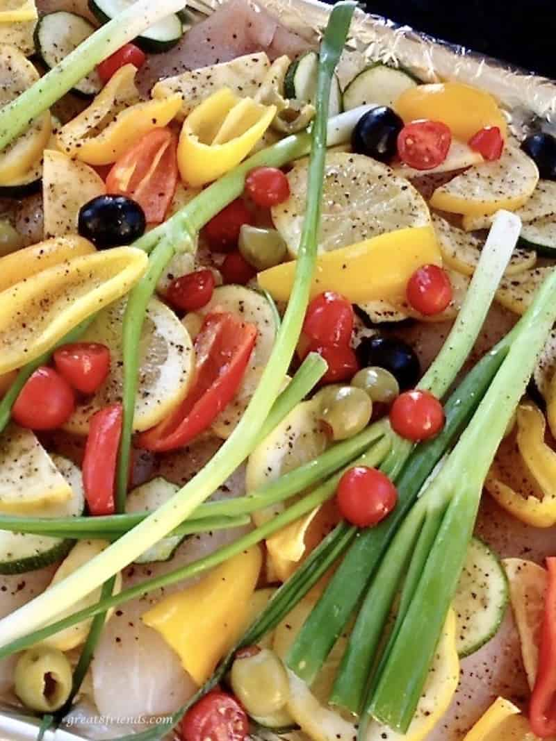 Add this sheet pan fish dinner and vegetables to your summer menu.