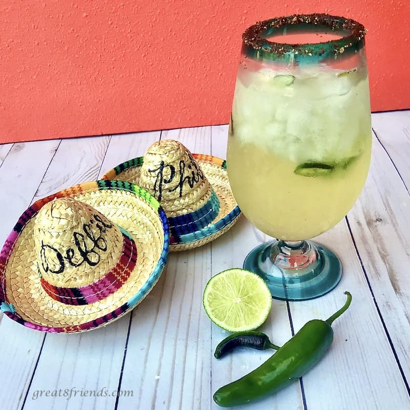These crowd pleasing margaritas include citrus and jalapeño.