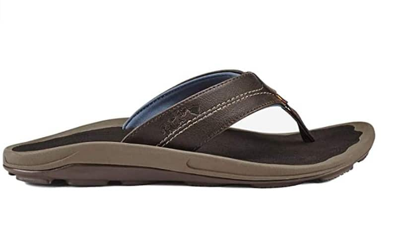 An Olukai sandal.