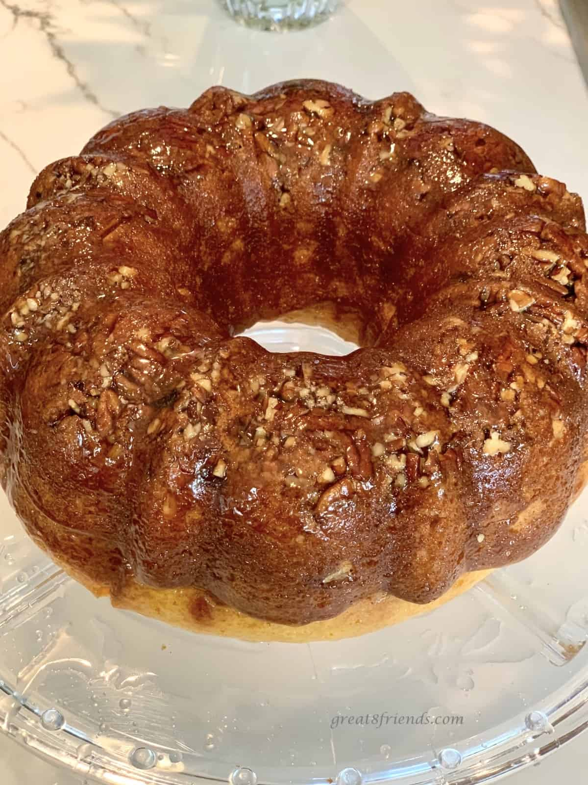 Rum Jamaican Bundt cake.