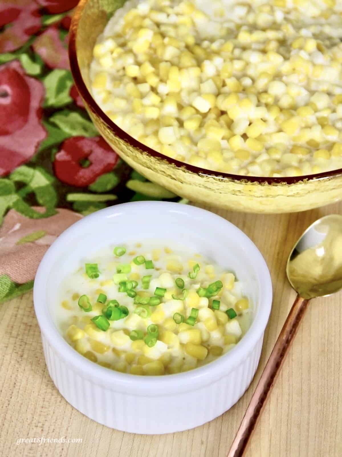 Corn that tastes like Gulliver's creamed corn.